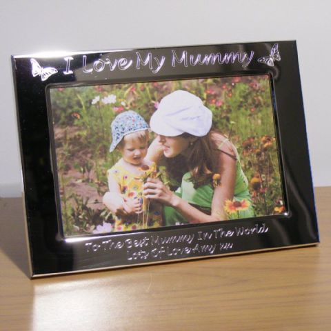 Personalised Butterfly Photo Frame I Love My Mummy Mum Mothers Day Gift